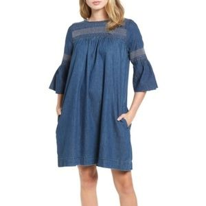 NWOT CURRENT/ELLIOTT Abagail Denim Jean Mini Dress